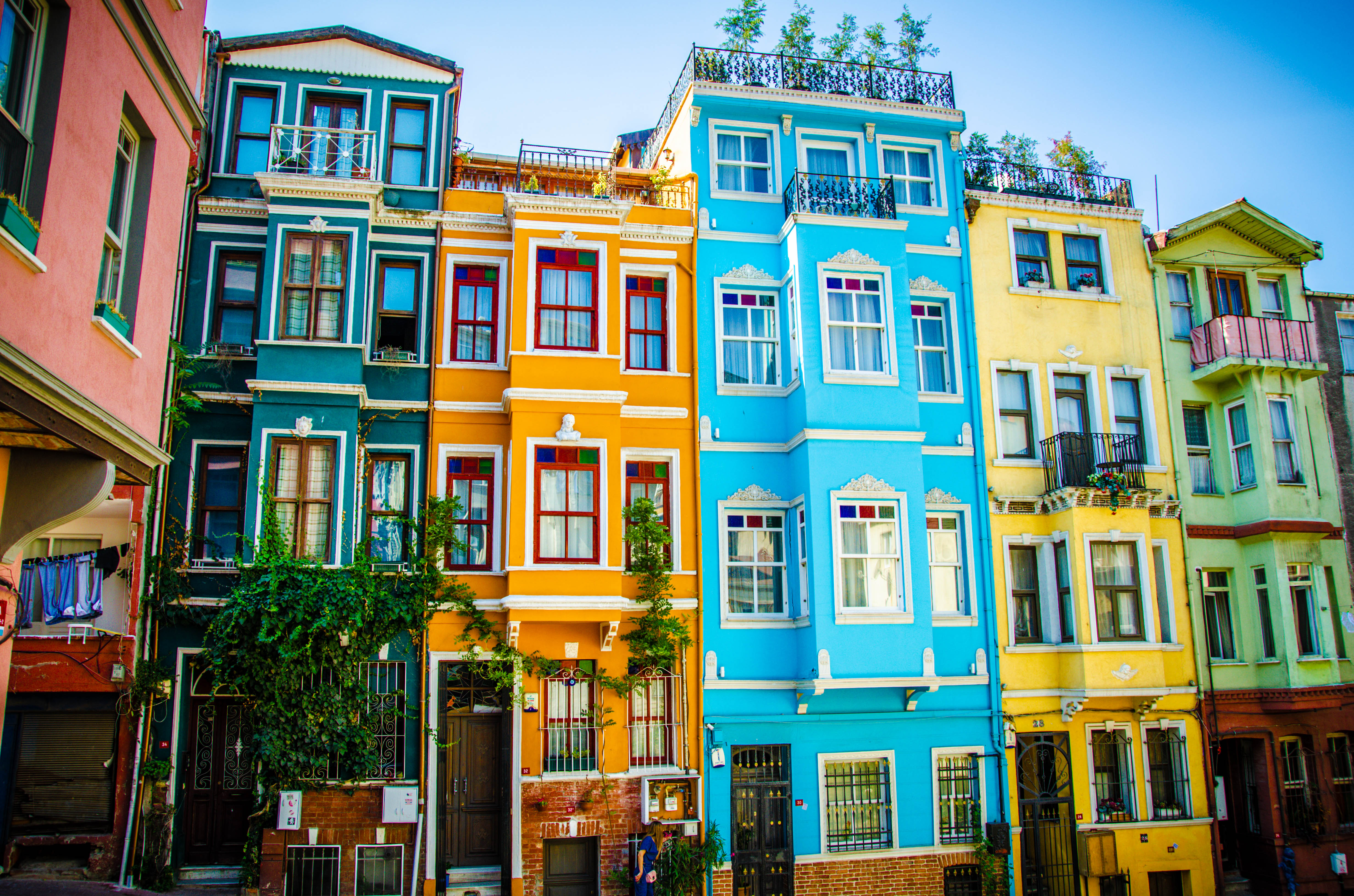case colorate quartiere balat istanbul