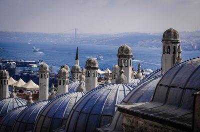 Vista dalla terrazza della moschea di solimano