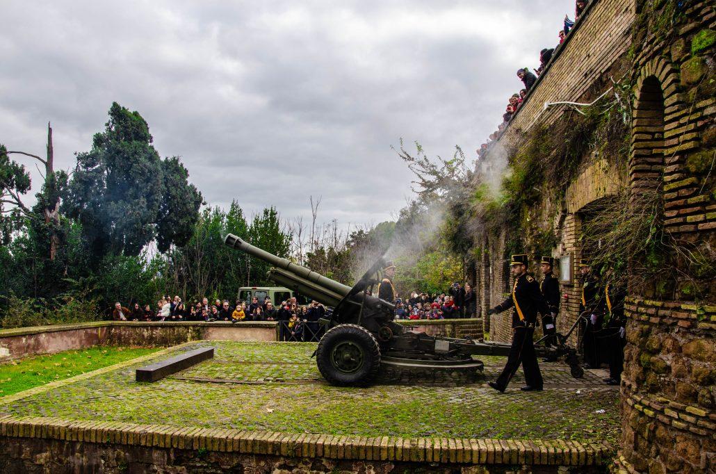 sparo del cannone al gianicolo