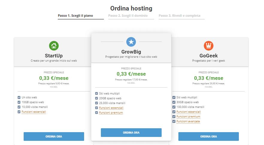 piani hosting siteground