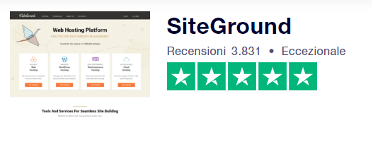 recensione siteground trustpilot