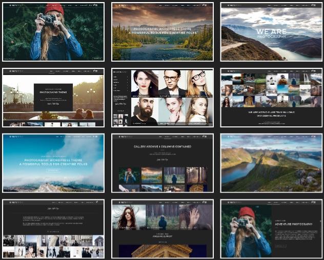 tema di fotografia migliori temi wordpress