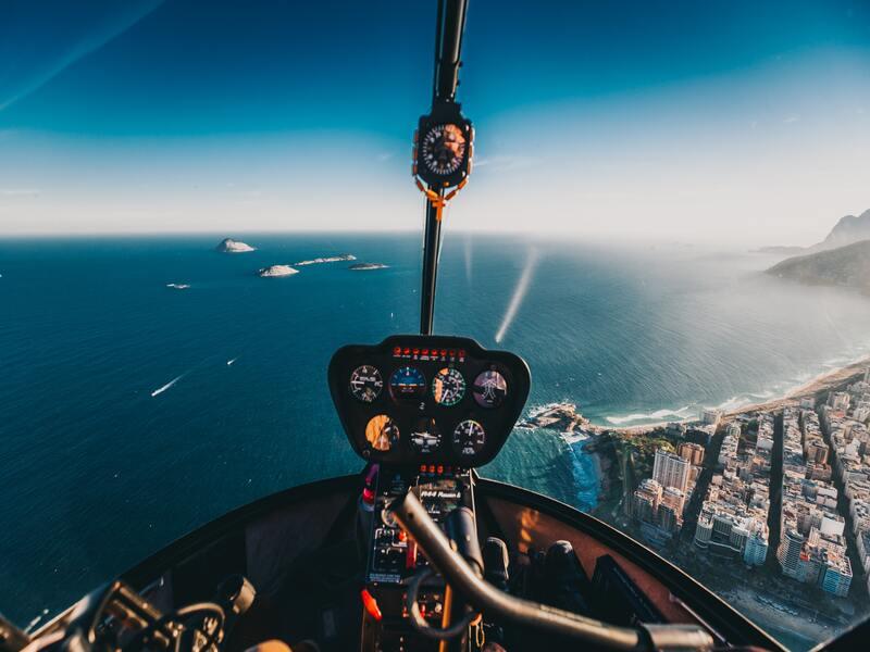 vista dall'alto da un elicottero