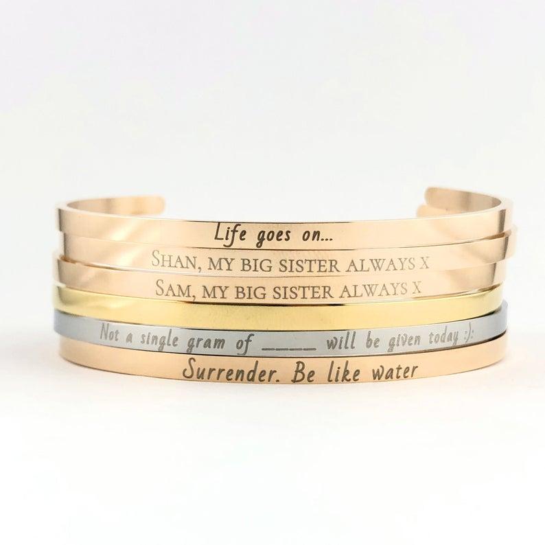 bracciali personalizzati con frase