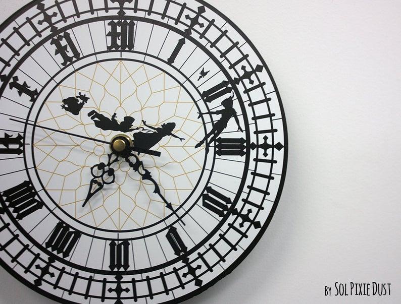 orologio da parete di peter pan