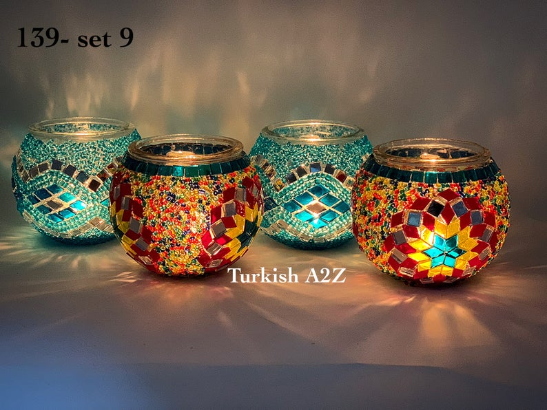 portacandele effetto mosaico turco