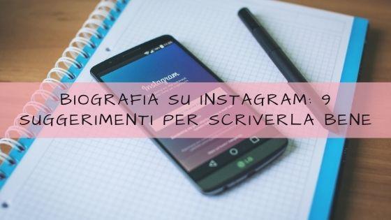 biografia su instagram