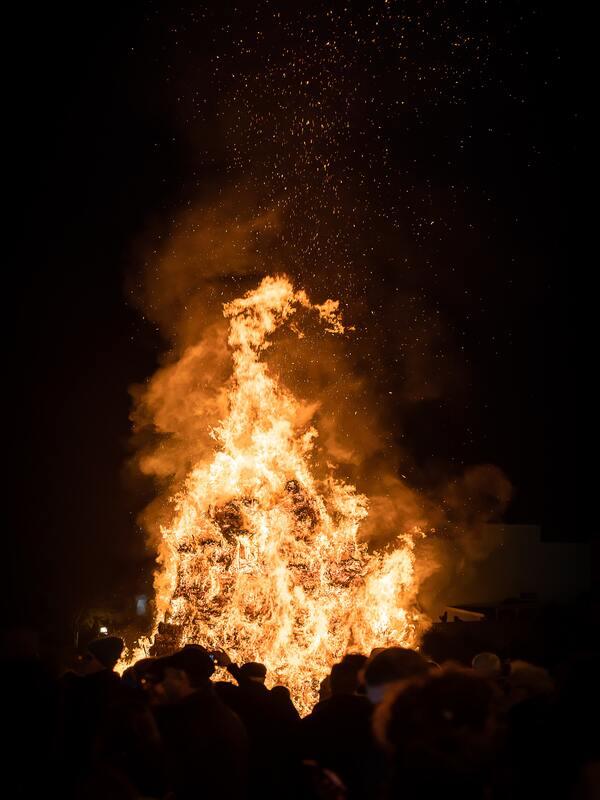 fiamma alta di una focara