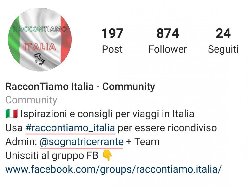 tag e hastag nella bio su instagram