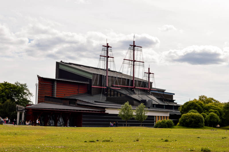 edificio esterno del museo Vasa