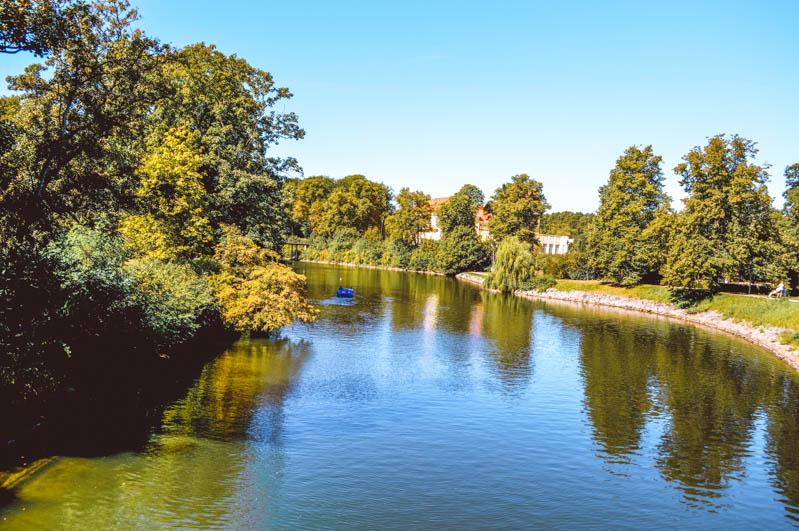 Slottsparken parco nella città di malmo