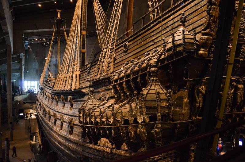 vascello nel museo vasa