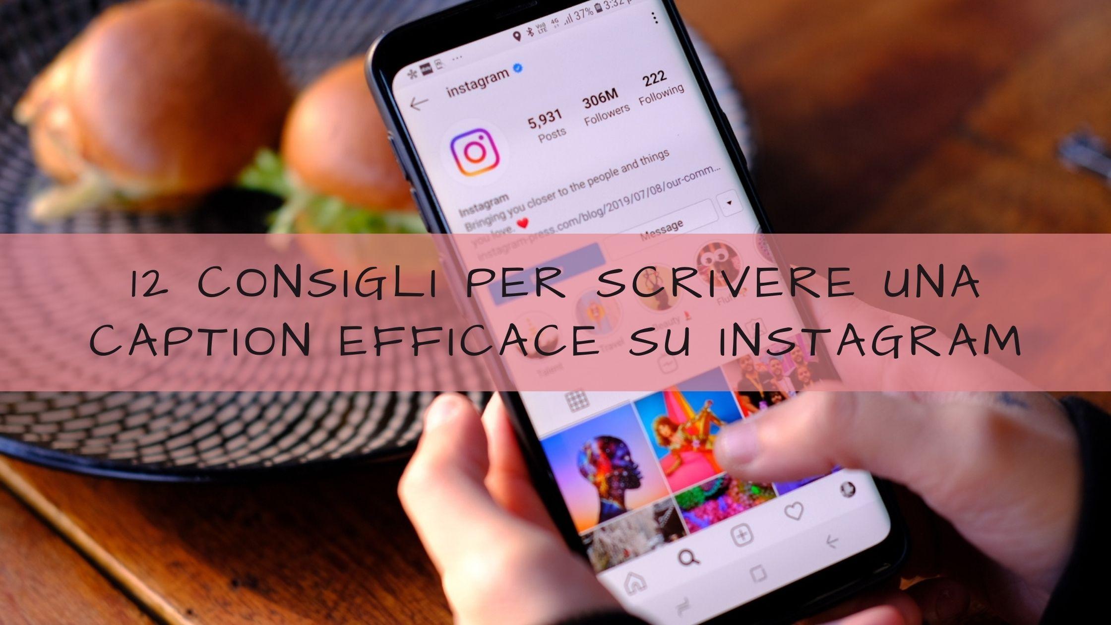 didascalie su instagram
