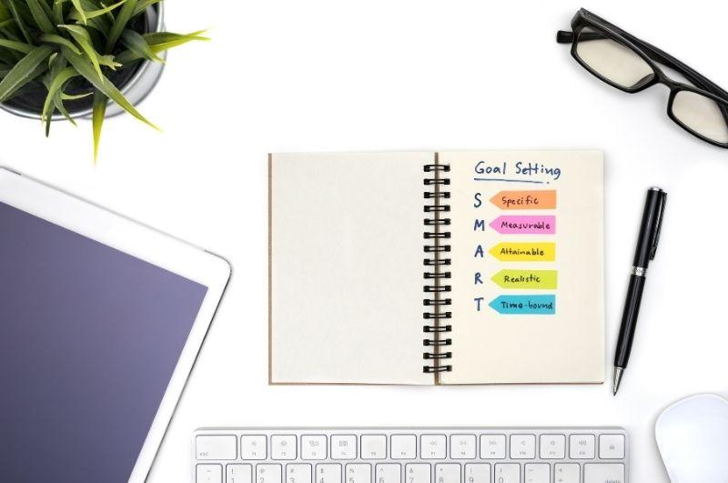 obiettici smart segnati su un'agenda