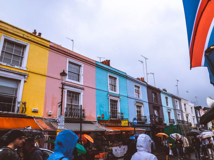 portobello road londra case colorate